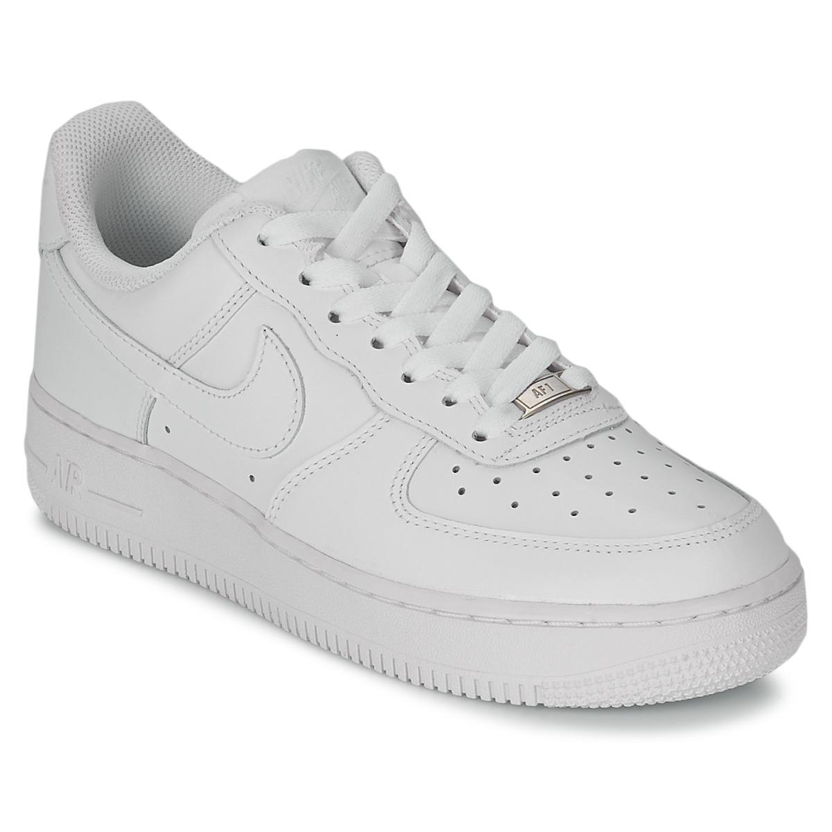 ca4fab4634396e Nike Air Force 1 07 Leather Women s Shoes (trainers) In White in ...