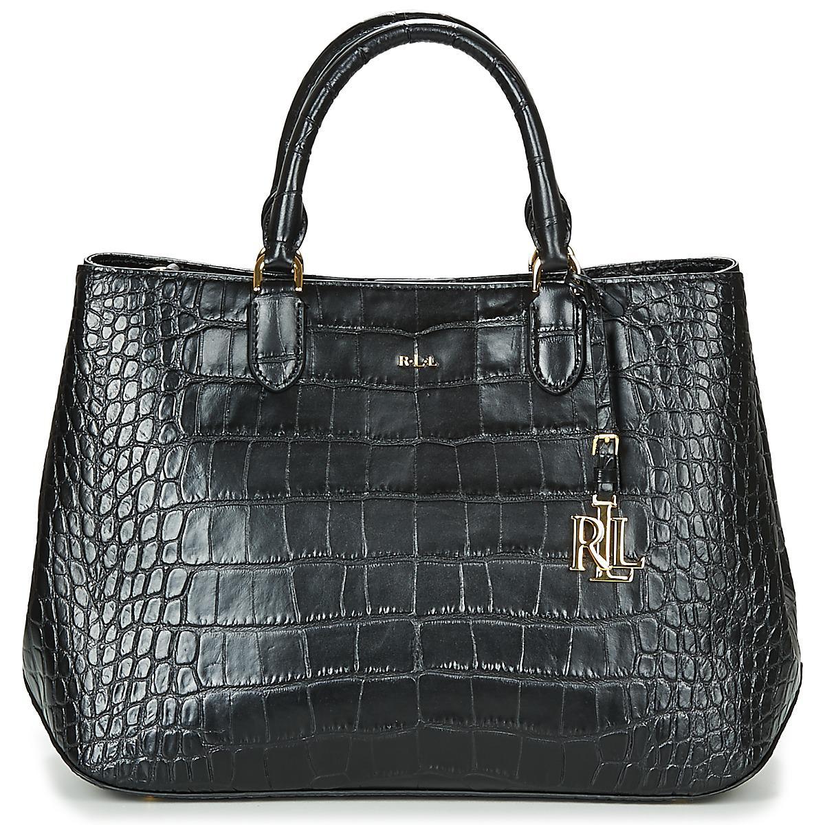 d56902caca64 Lauren by Ralph Lauren Newbury Sabine Women s Handbags In Black in ...