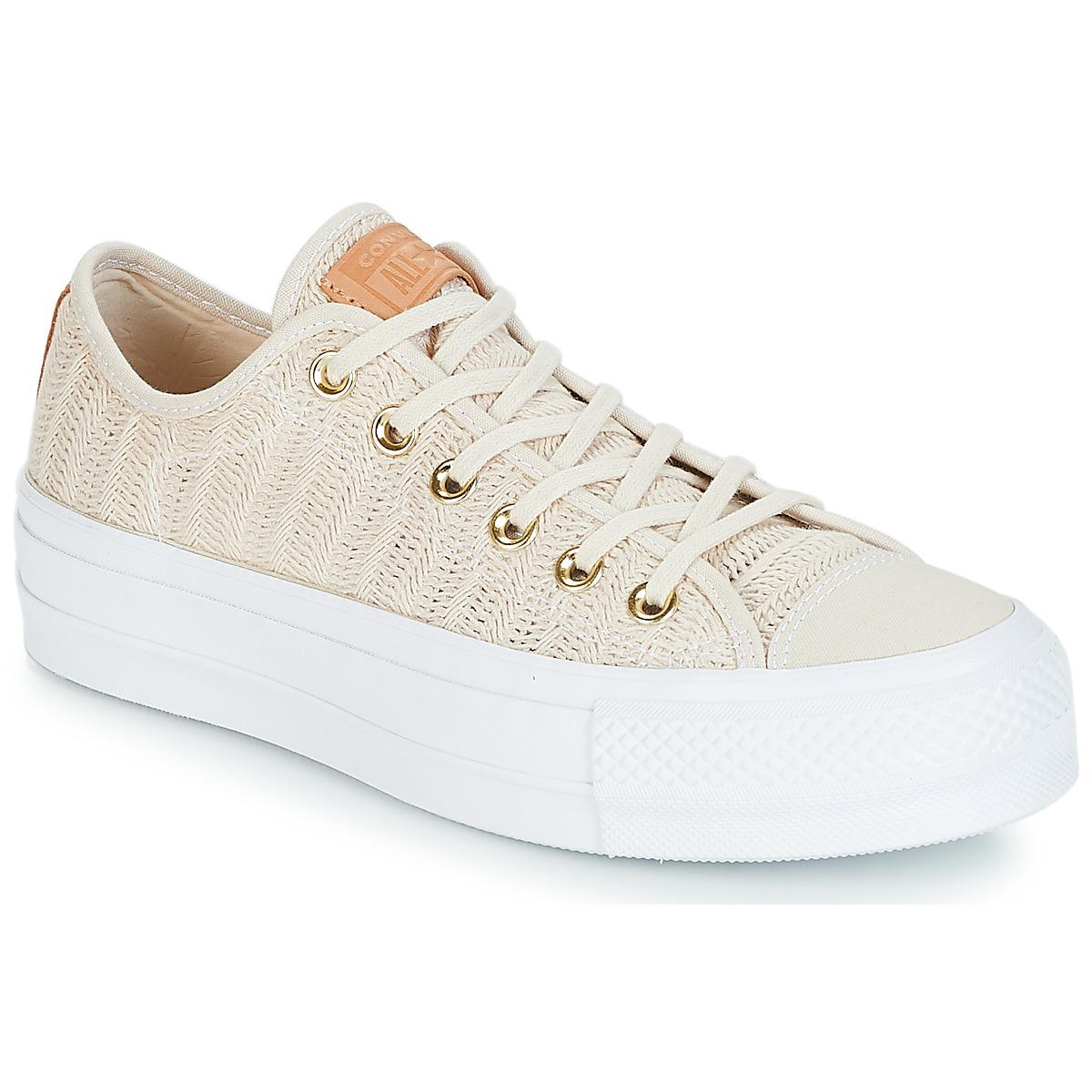 c6fccb125b10 Converse Chuck Taylor All Star Lift-ox Shoes (trainers) in Natural ...