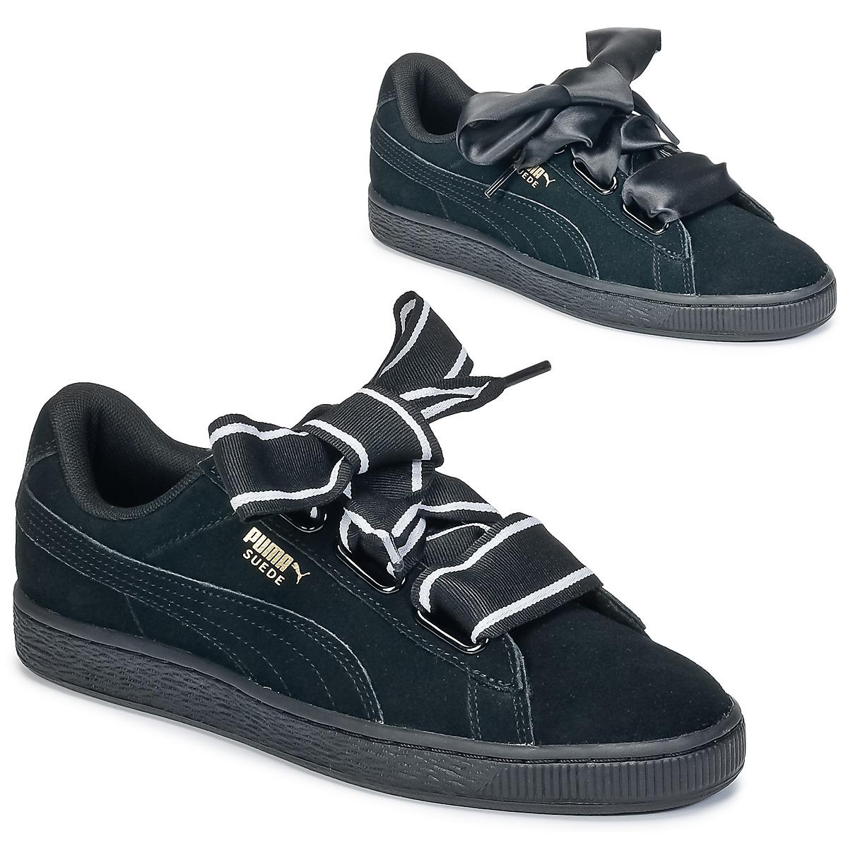 763b7261ad4 PUMA Basket Heart Satin Women s Shoes (trainers) In Black in Black ...