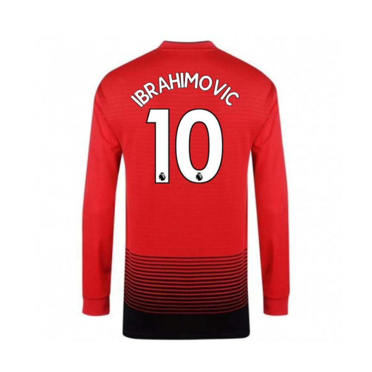 c03c866ec Adidas 2018-2019 Man Utd Home Long Sleeve Shirt (ibrahimovic 10 ...