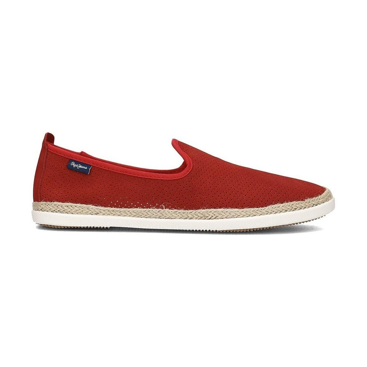 3d9ad5690de Pepe Jeans Maui Summer Men s Slip-ons (shoes) In Red in Red for Men ...