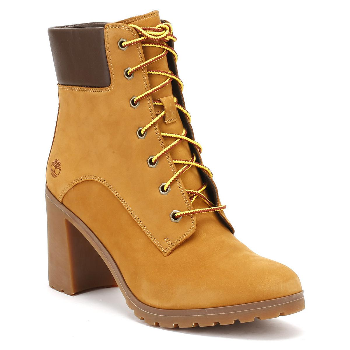 8809592a3b80 Timberland Womens Wheat Yellow Allington 6 Inch Boots Women s Mid ...