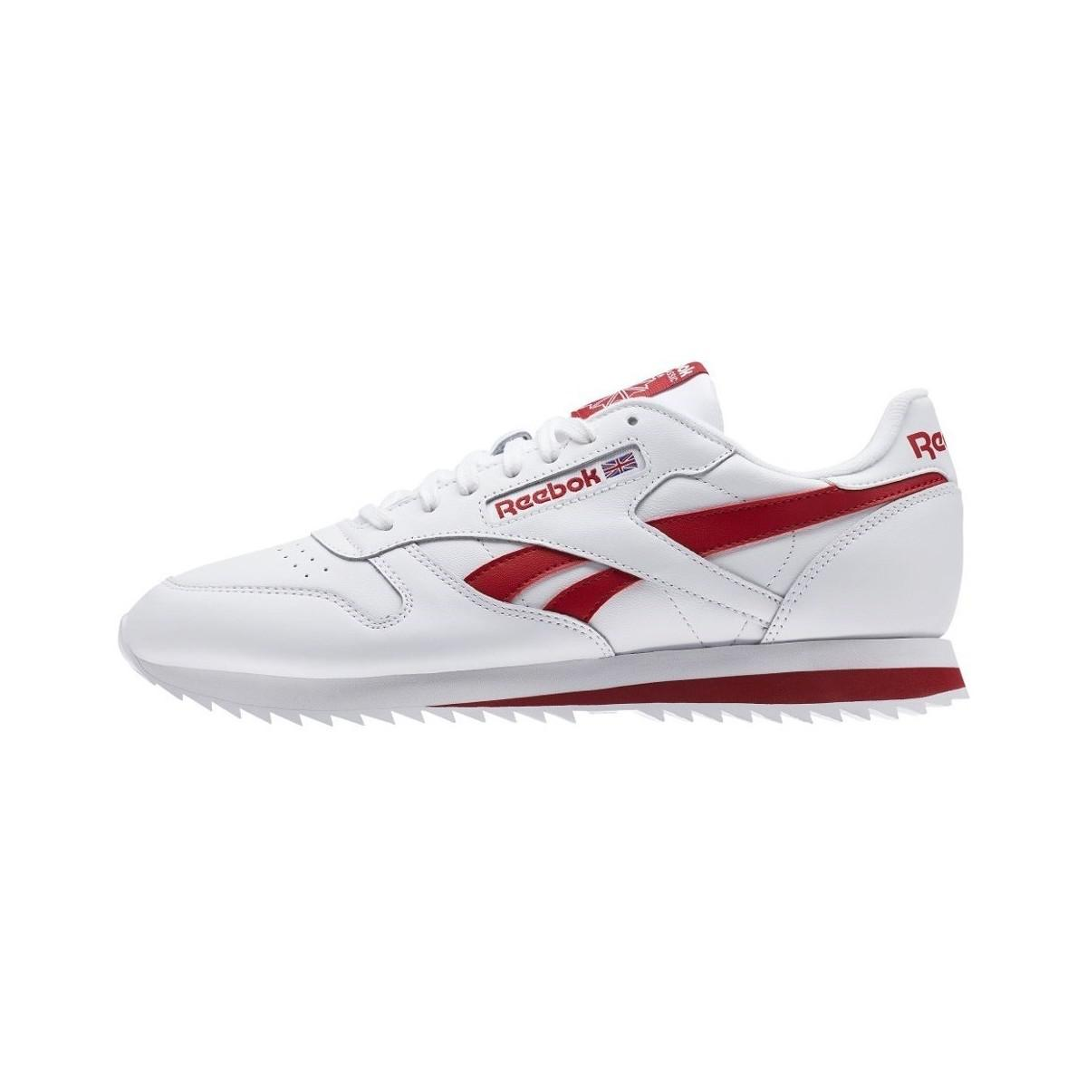 f0c58749ea8ec Reebok Classic Leather Ripple Low Bp Men s Shoes (trainers) In Red ...