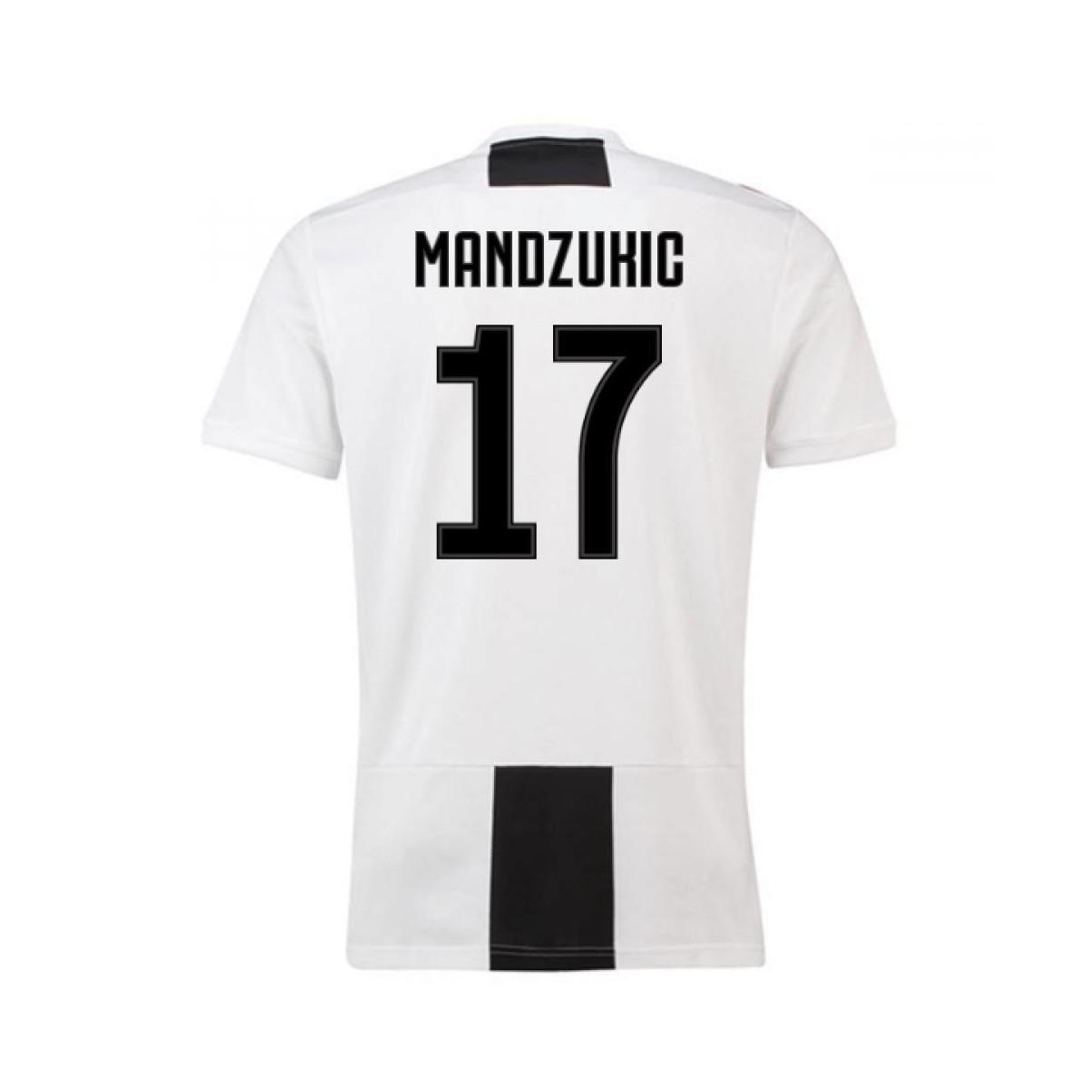 e53258a7acc adidas 2018-19 Juventus Home Shirt (mandzukic 17) - Kids Men s T ...