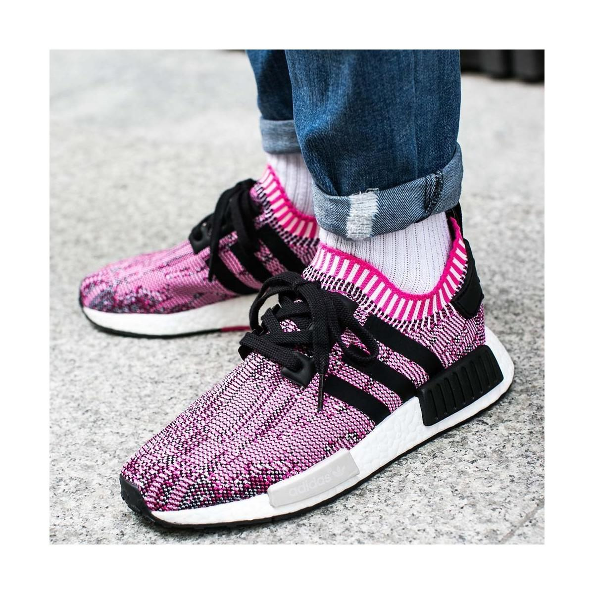 3303fb302 adidas Nmd R1 Primeknit Women Shock Pink Women s Shoes (trainers) In ...