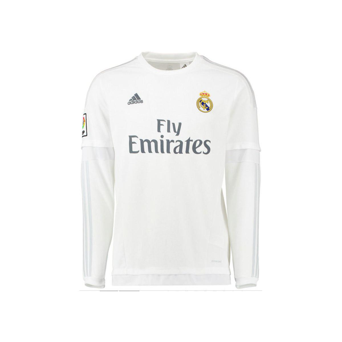 2d0f343ae adidas 2015-16 Real Madrid Long Sleeve Home Shirt (james 10) - Kids ...