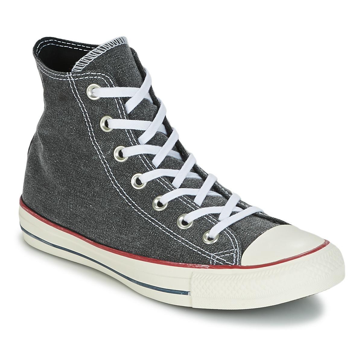 985bf22c186b7 Lyst - CHUCK TAYLOR ALL STAR HI STONE WASH femmes Chaussures en Gris ...