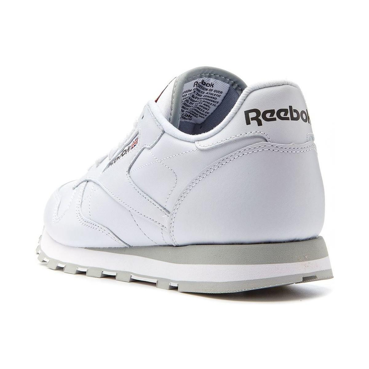 60468a2ccef Reebok Classic Leather Retro Trainers In White 2214 Men s Shoes ...