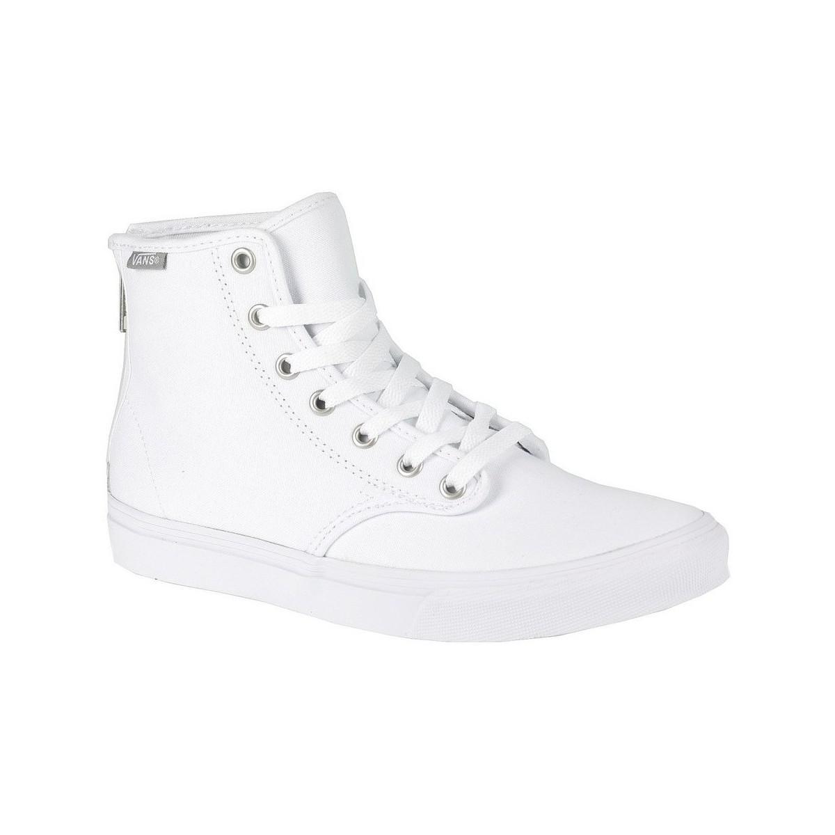79568296488b52 Vans W Camden Hi Zip Canvas White Women s Shoes (high-top Trainers ...