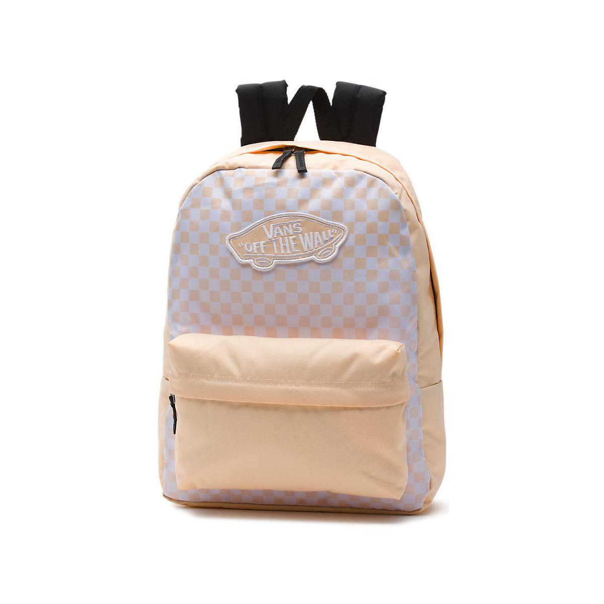 ada7f23138 Vans Realm Backpack (bleached Apricot Checkerboard) Men's Backpack ...