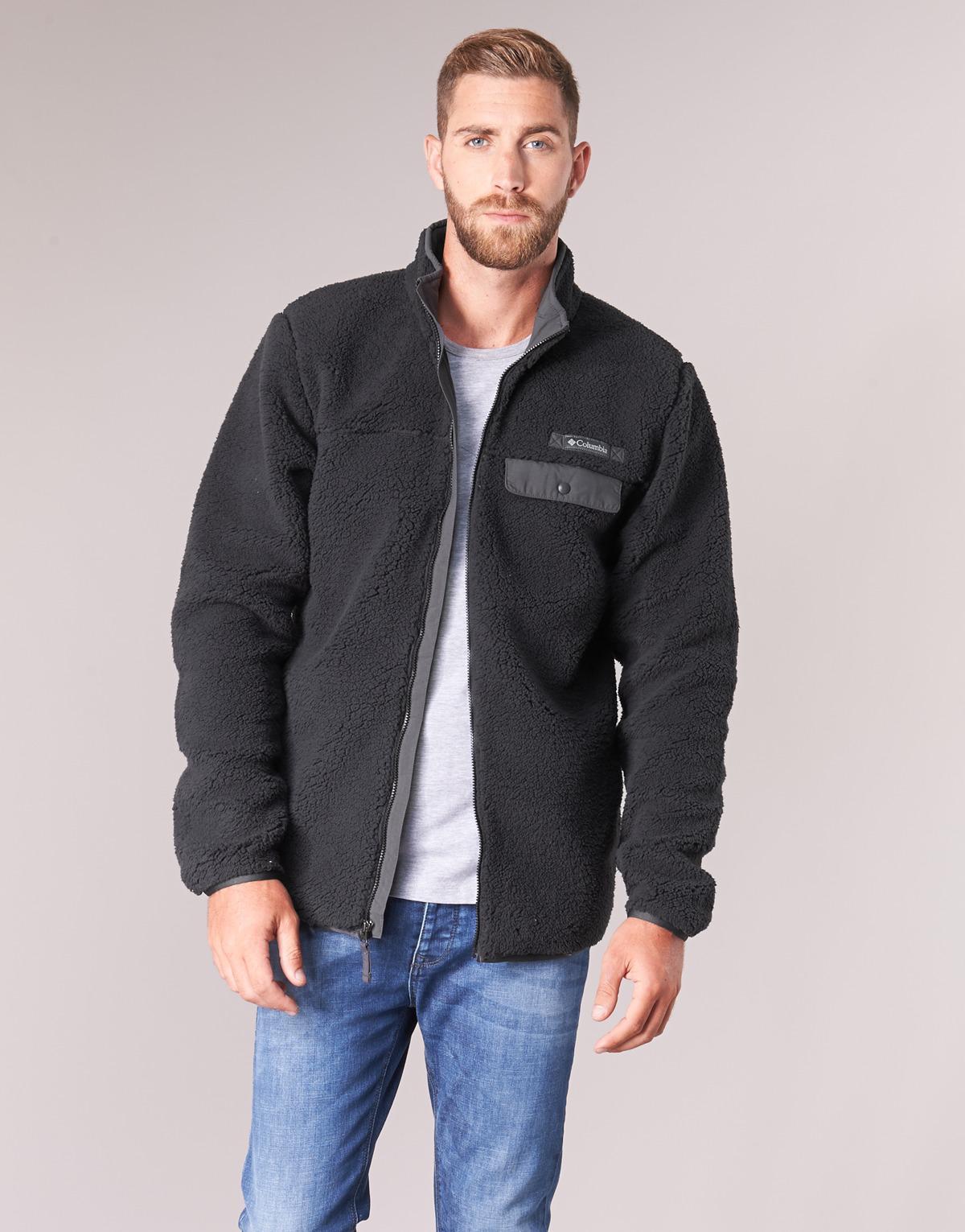 6e4f5286351 Columbia Mountain Side Heavyweight Fleece Zip Men s Fleece Jacket In Black  in Black for Men - Lyst