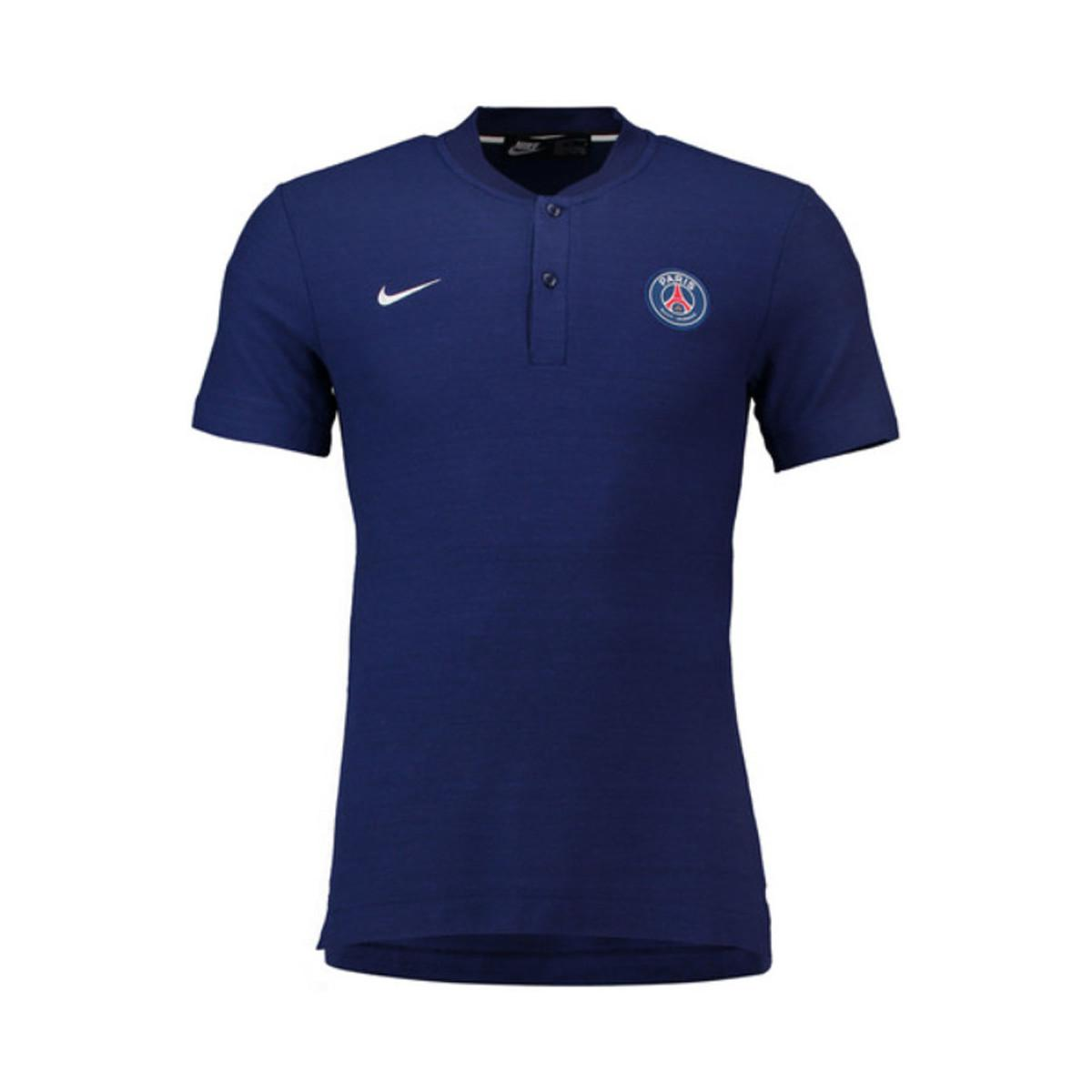 nike 2018 2019 psg authentic grand slam polo shirt men 39 s polo shirt in blue in blue for men lyst. Black Bedroom Furniture Sets. Home Design Ideas