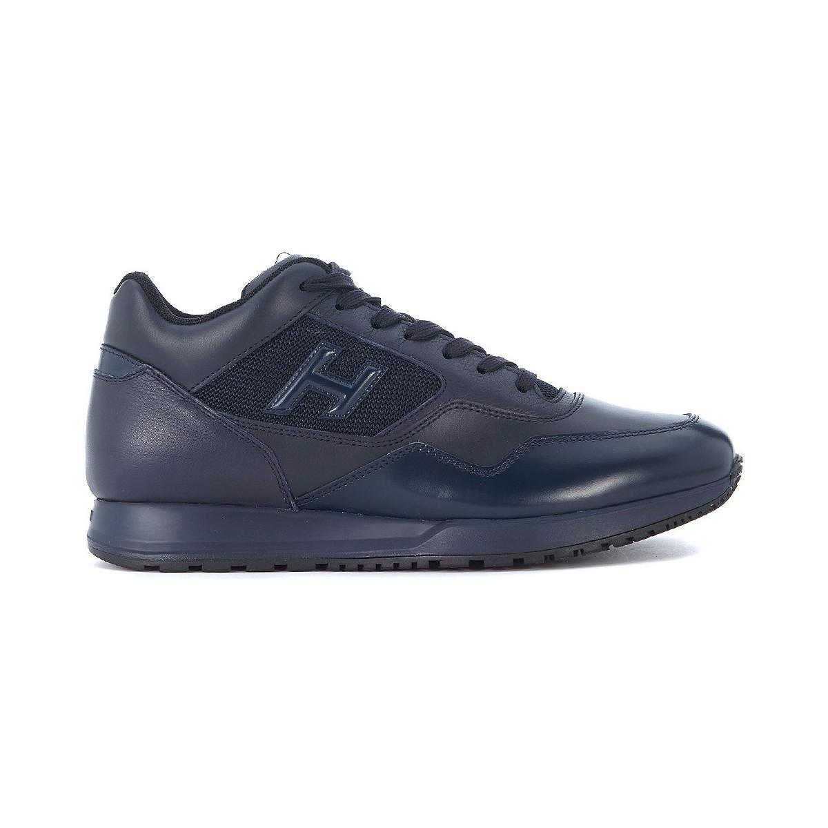Hogan Sneaker H321 In Pelle E Tessuto Tecnico Blu Men s Shoes ... a7d1b2603f6