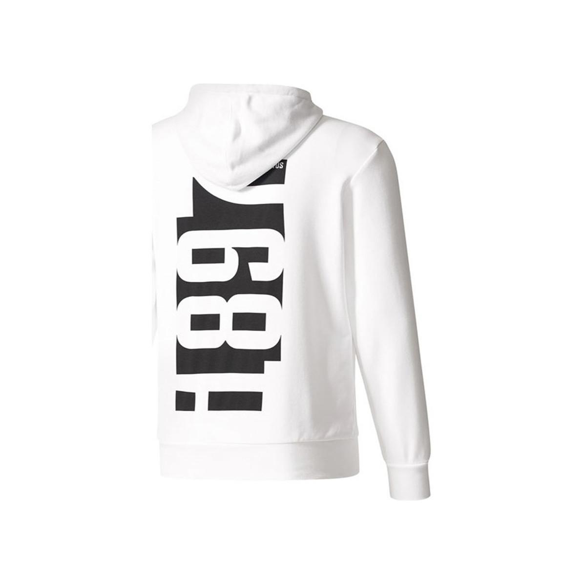 cb887f1f1 adidas 2017-2018 Juventus Hooded Top Men s Sweatshirt In White in ...