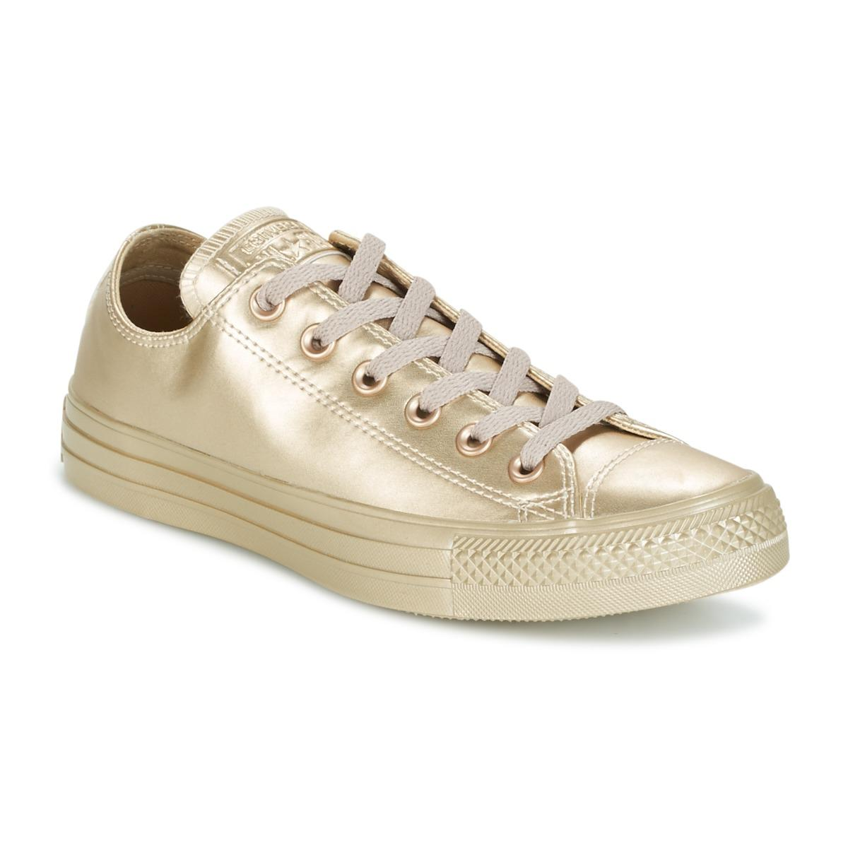 d44d6539c6eb Converse. Chuck Taylor All Star Liquid Metallic Ox Liquid Metallic Ox Gold  Women s ...