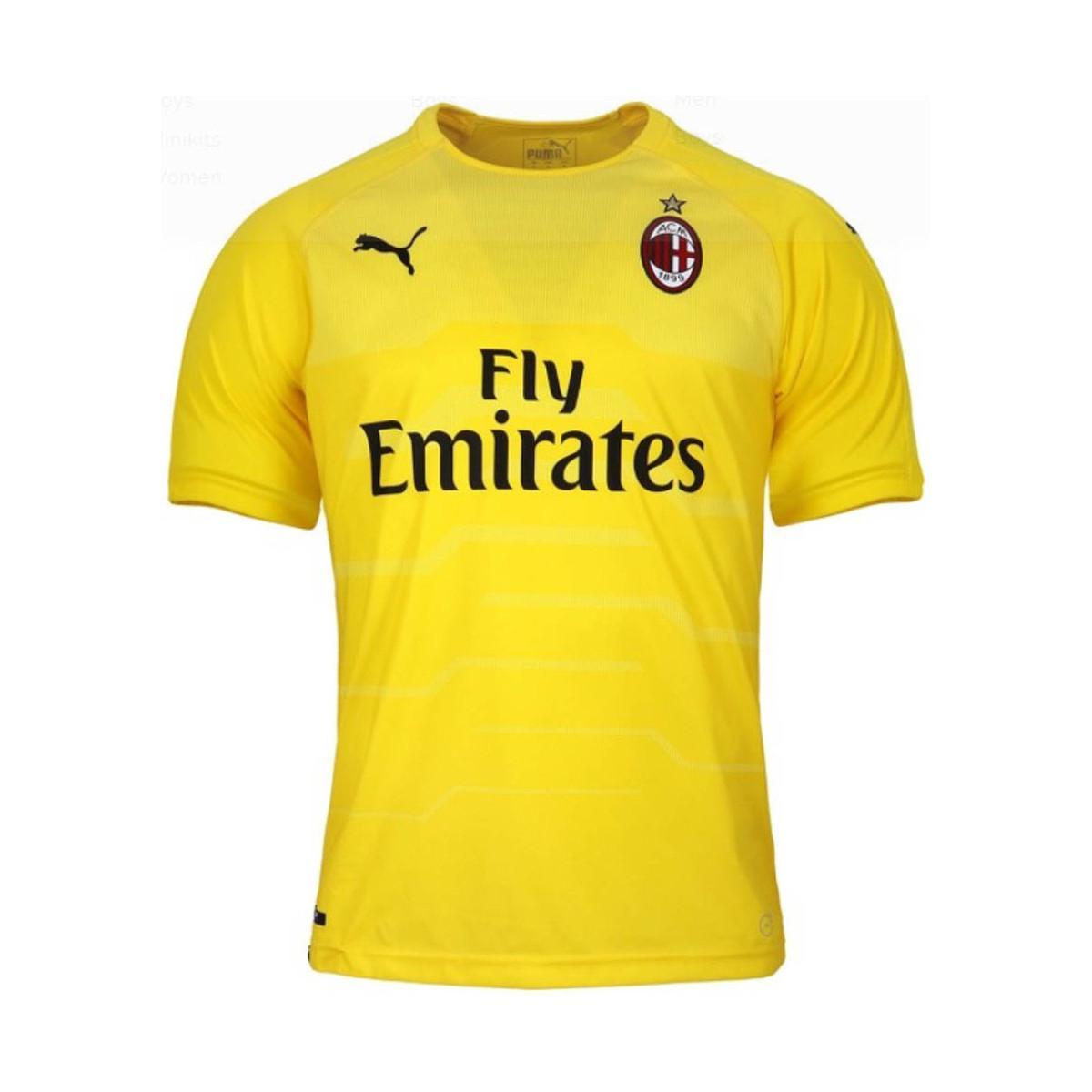 PUMA 2018-2019 Ac Milan Home Ss Goalkeeper Shirt Men s T Shirt In ... 161b90c81