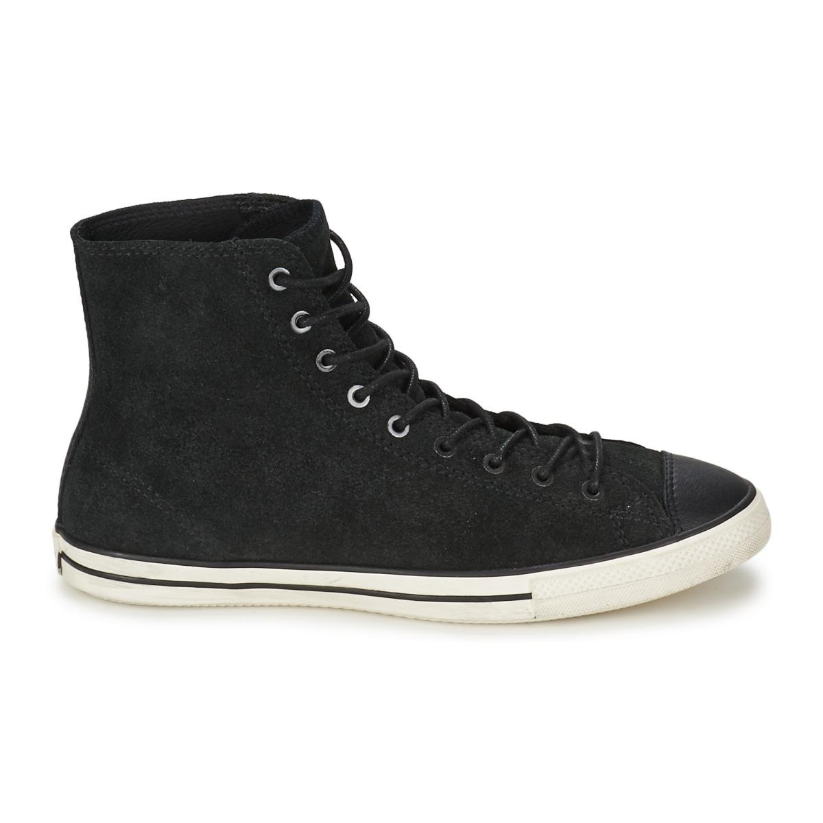 ed1e9d3a2594 Converse - Black All Star Fancy Leather Hi Shoes (high-top Trainers) -.  View fullscreen