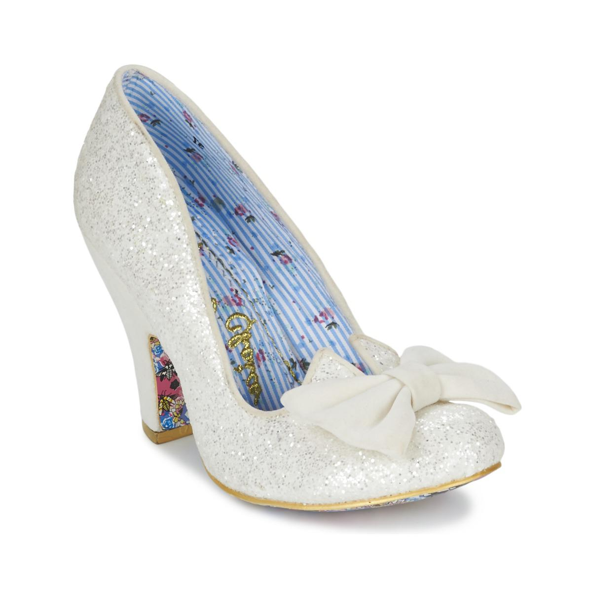 Irregular Choice Nick Of Time Women S Court Shoes In White