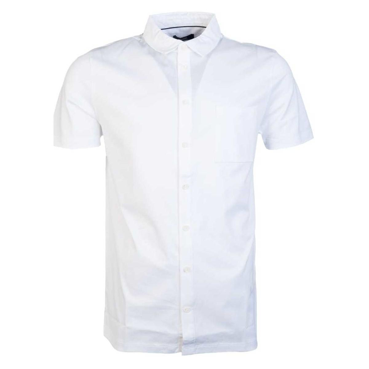 cc00d11dd ... Men's Short Sleeved Shirt In White for. Visit Spartoo. Tap to visit site