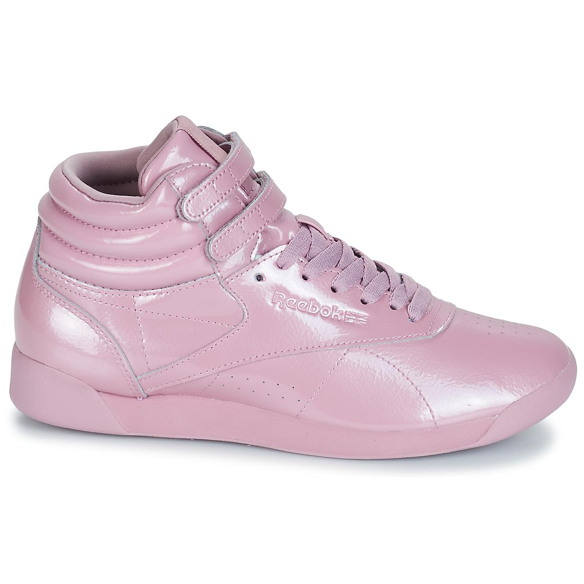 92c596b13102 Reebok - Freestyle Hi Women s Shoes (high-top Trainers) In Purple - Lyst.  View fullscreen