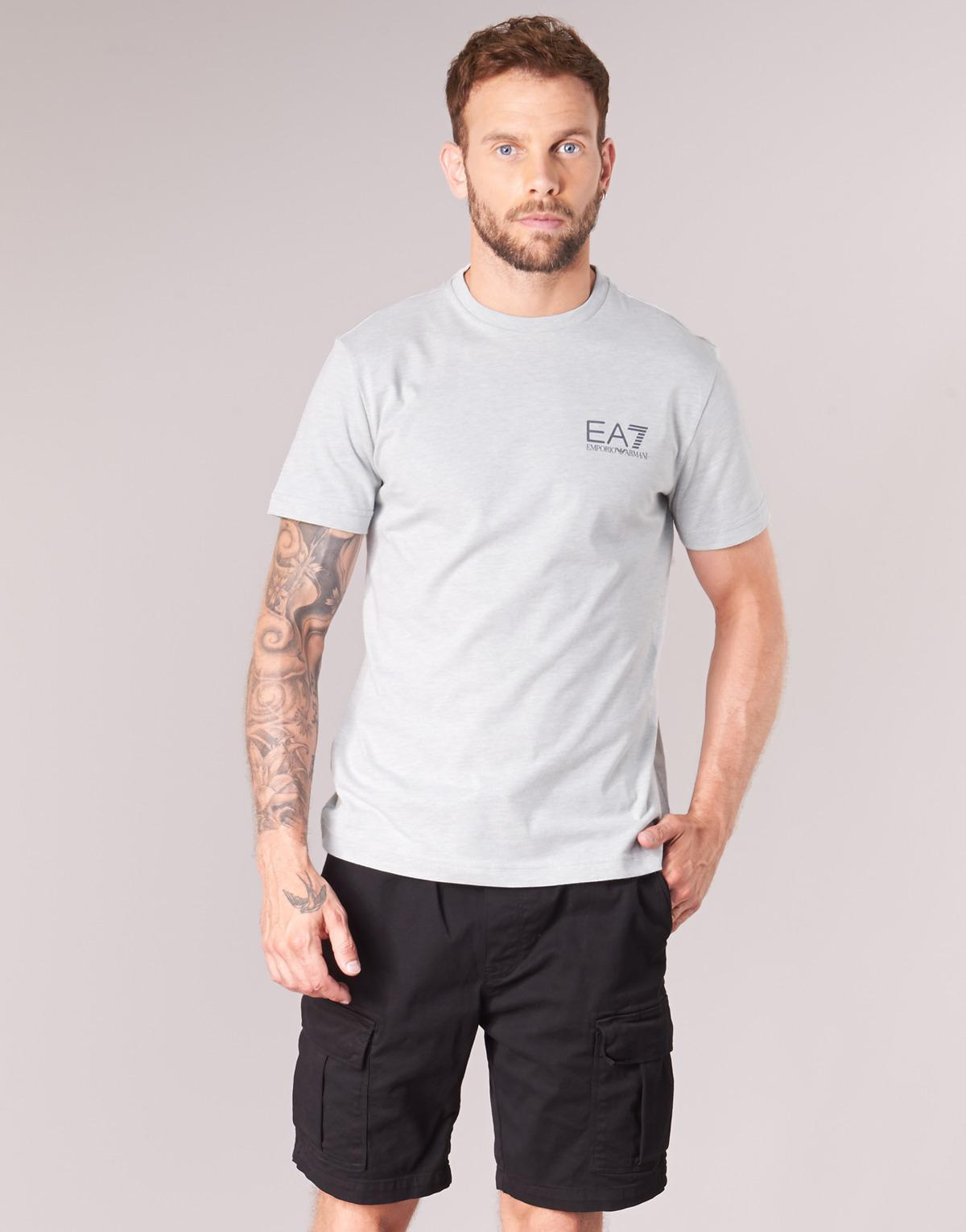 e775668a6cd Ea7 Train Core Identity 3zpt51 Men s T Shirt In Grey in Gray for Men - Lyst