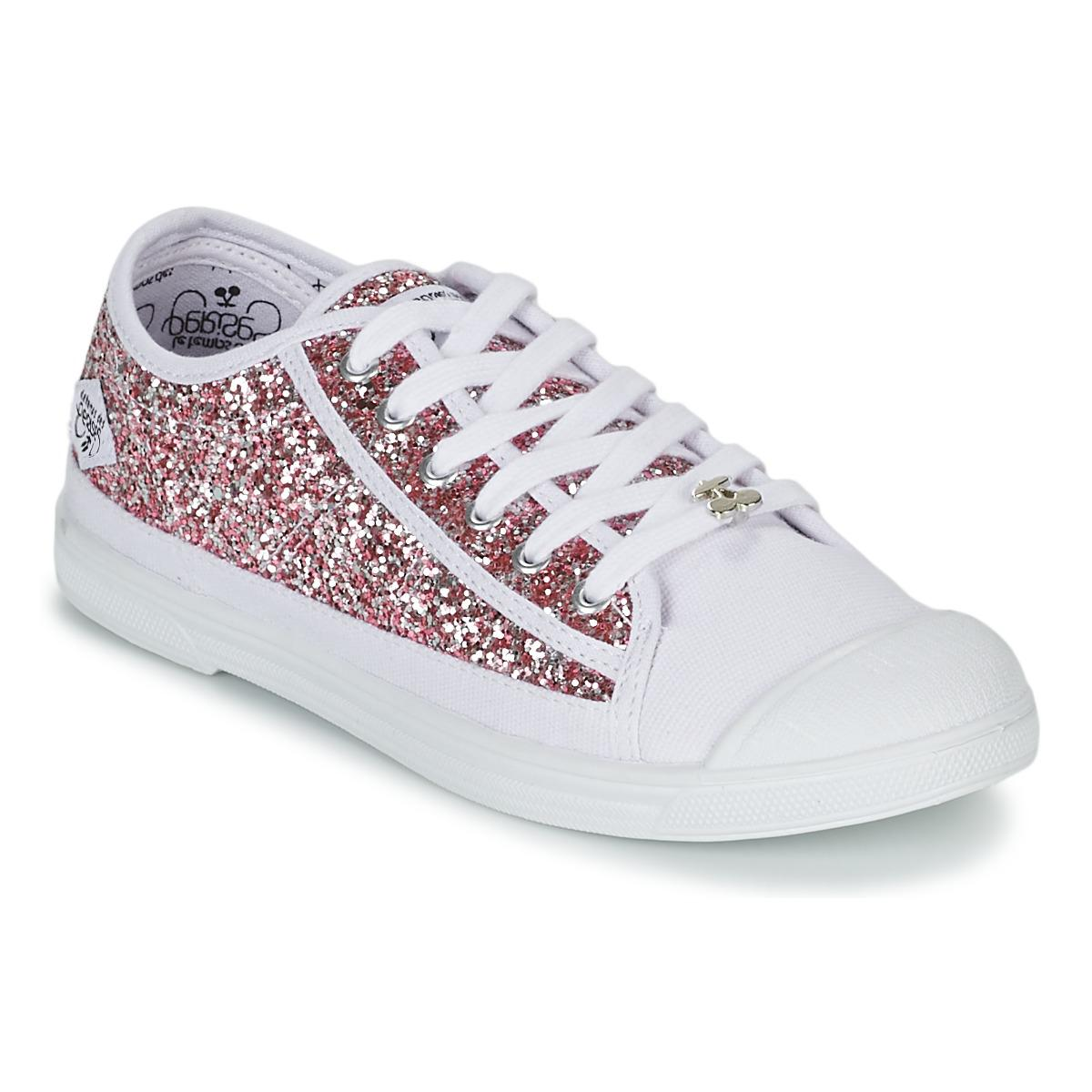 le temps des cerises basic 02 women 39 s shoes trainers in pink in pink lyst