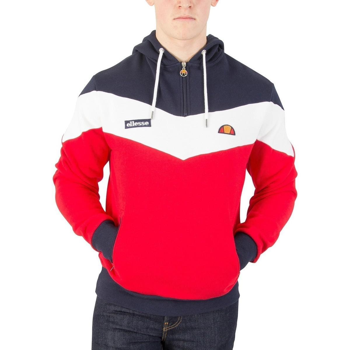 784240d524 Ellesse Men's Caserta Pullover Hoodie, Red Men's Sweater In Red in ...