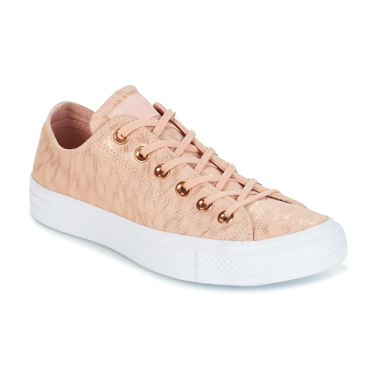 ca3ad4893ef Converse. Chuck Taylor All Star Shimmer Suede Ox Dusk Pink dusk Pink white Women s  Shoes ...