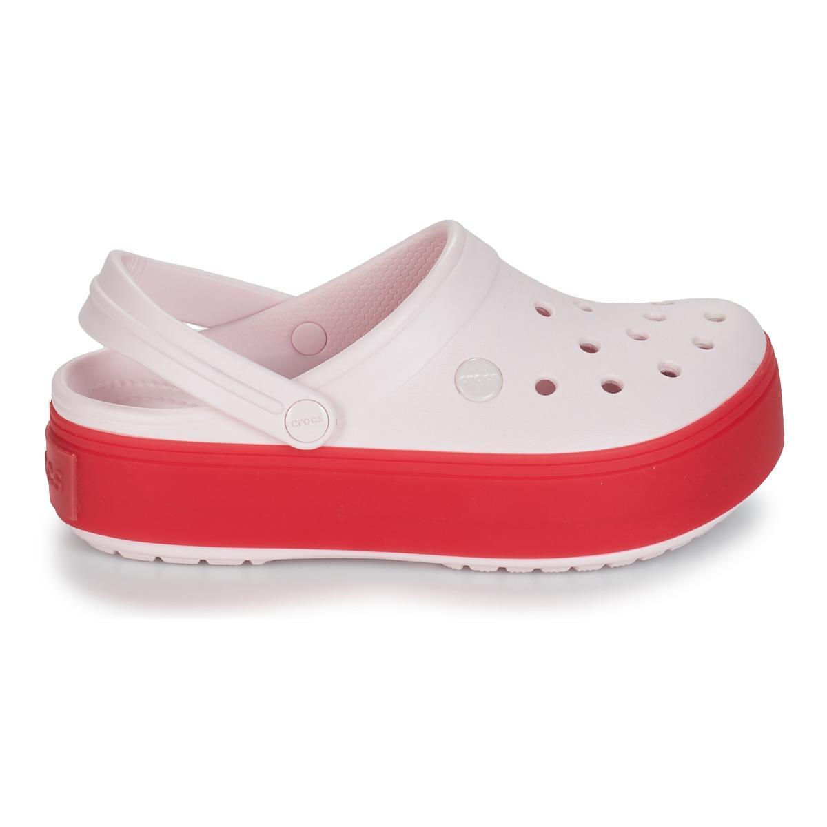 48153824bf7 Crocs™ - Pink Crocband Platform Clog - Lyst. View fullscreen