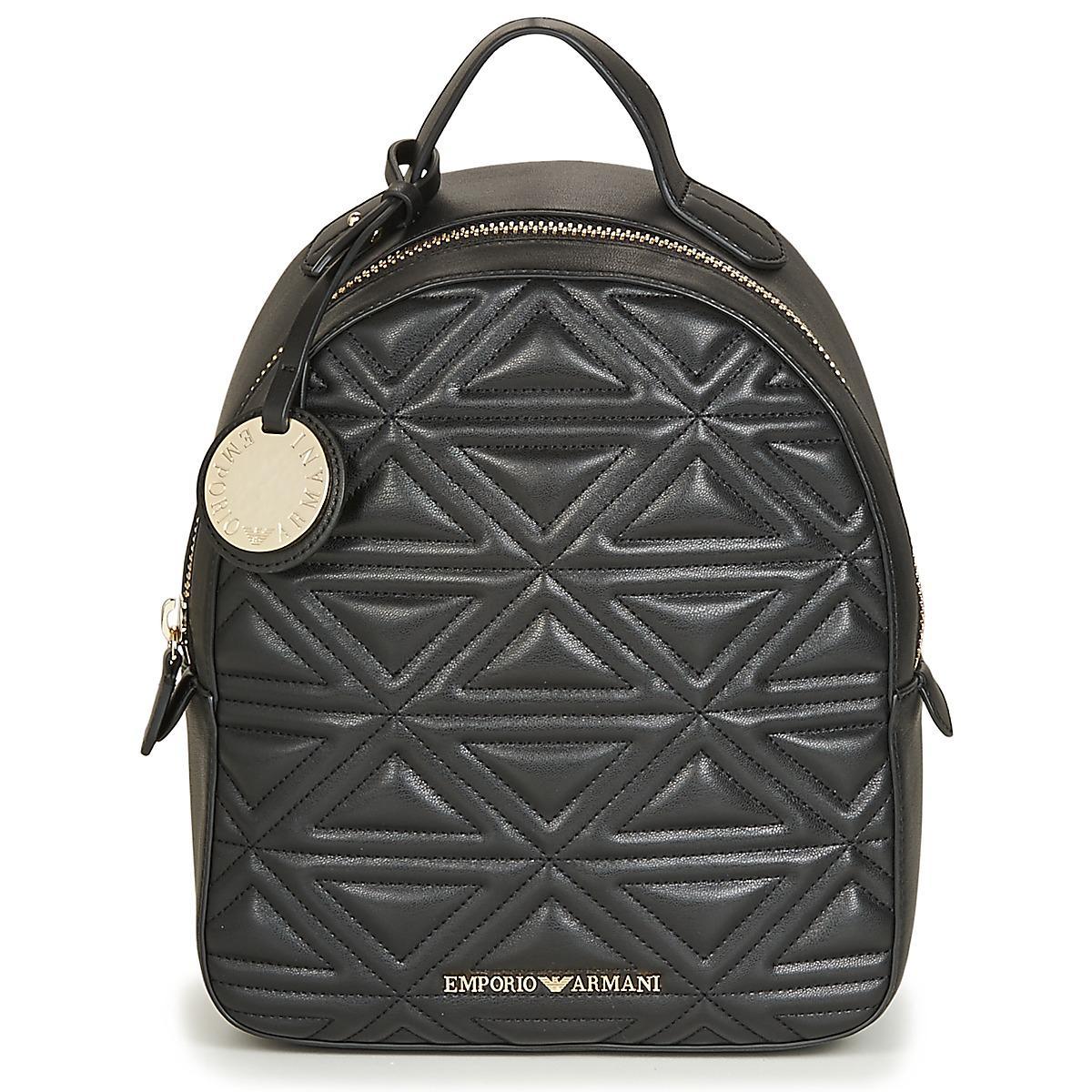 402c4354f0e9 Emporio Armani Logo Backpack in Black - Lyst