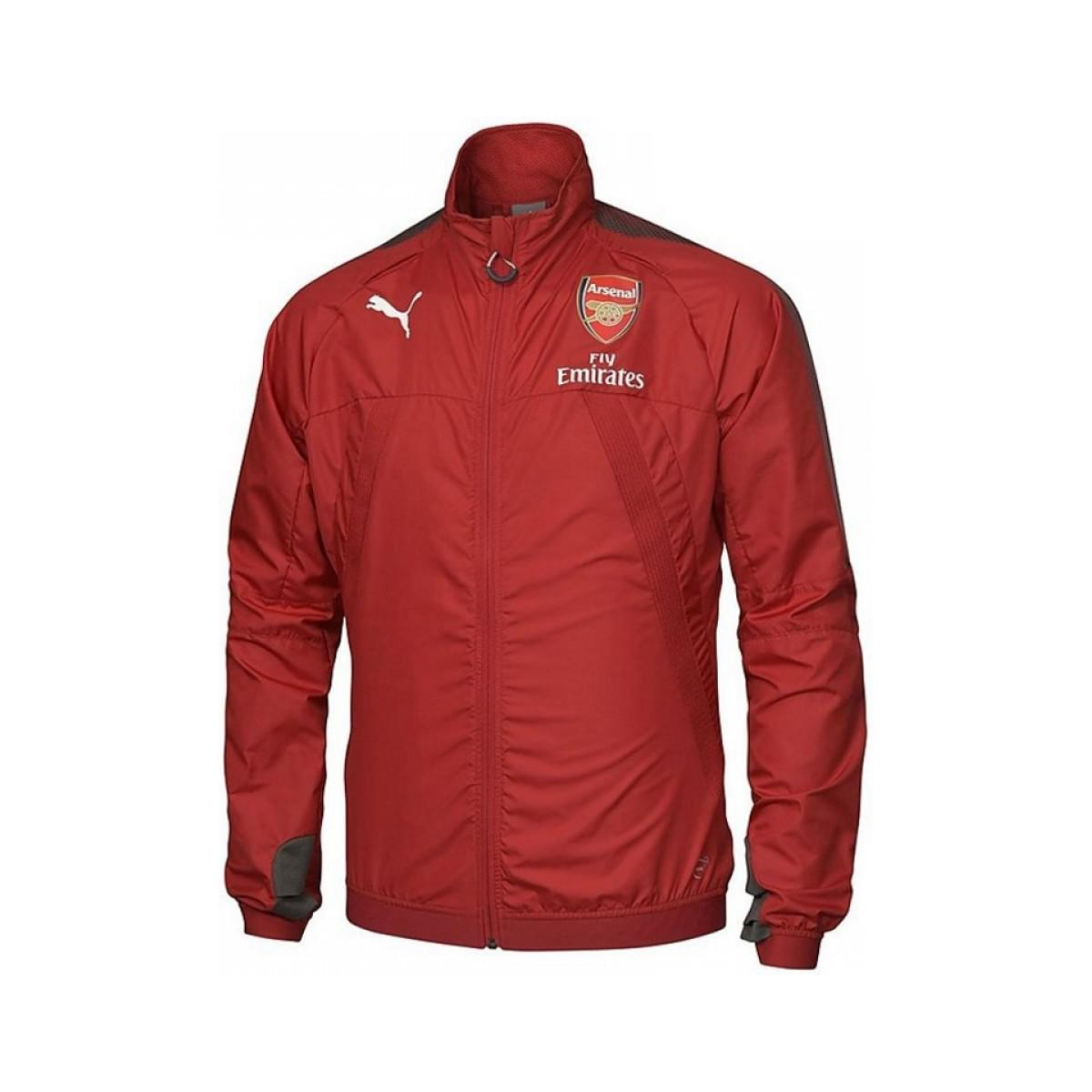 dcf1d8ddb7a PUMA 2017-2018 Arsenal Vent Stadium Thermo-r Jacket (chilli Pepper ...