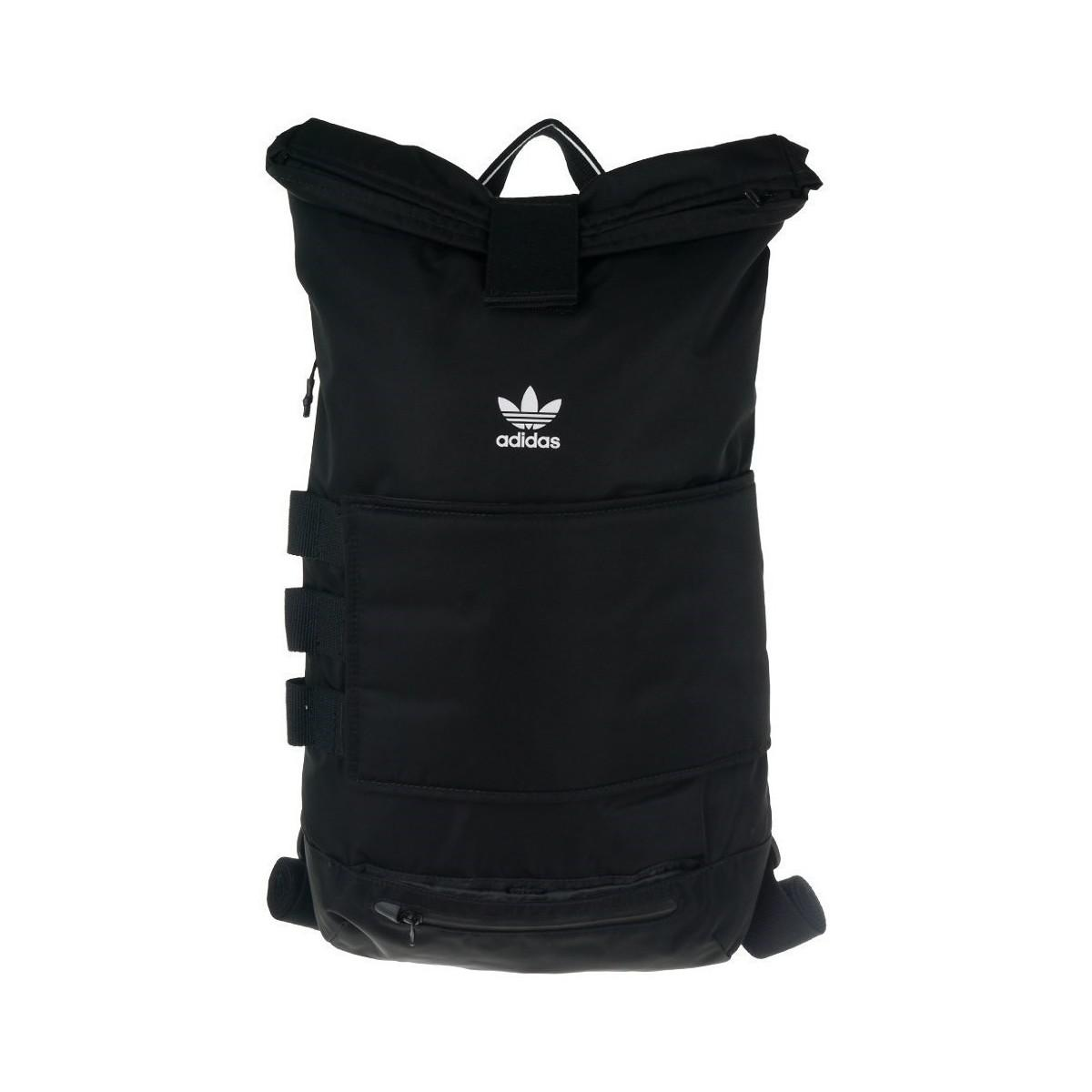 adidas Rollup Backpack Men s Backpack In Black in Black for Men - Lyst 70c826135839e