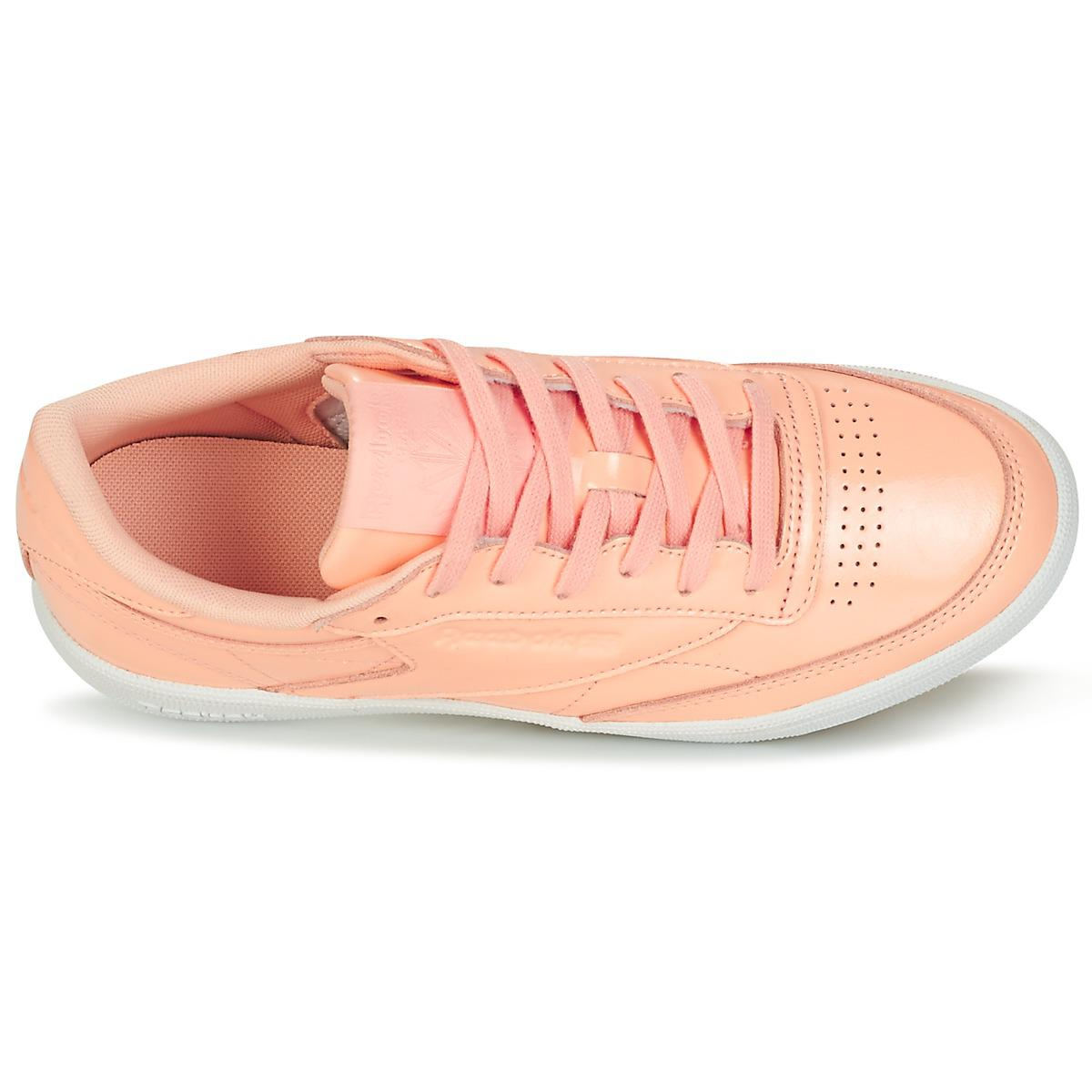 e5dda7b7595 Reebok Club C 85 Patent Shoes (trainers) in Pink - Lyst