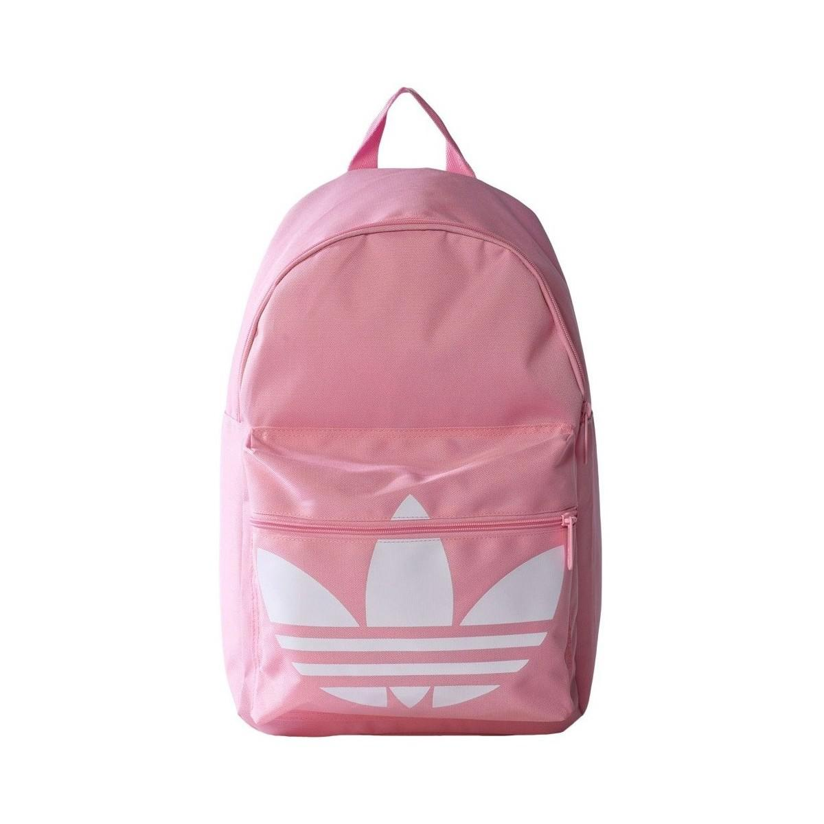 Adidas Originals Classic Trefoil Women s Backpack In Pink in Pink - Lyst 90c2b6c2a1