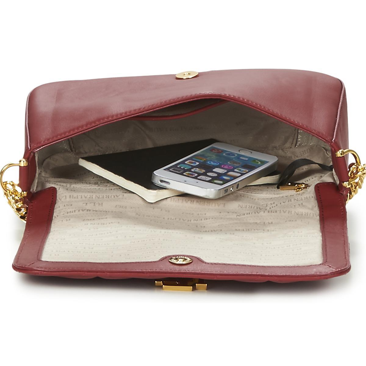 45464709e4 Lauren by Ralph Lauren Brenda Women s Shoulder Bag In Red in Red - Lyst