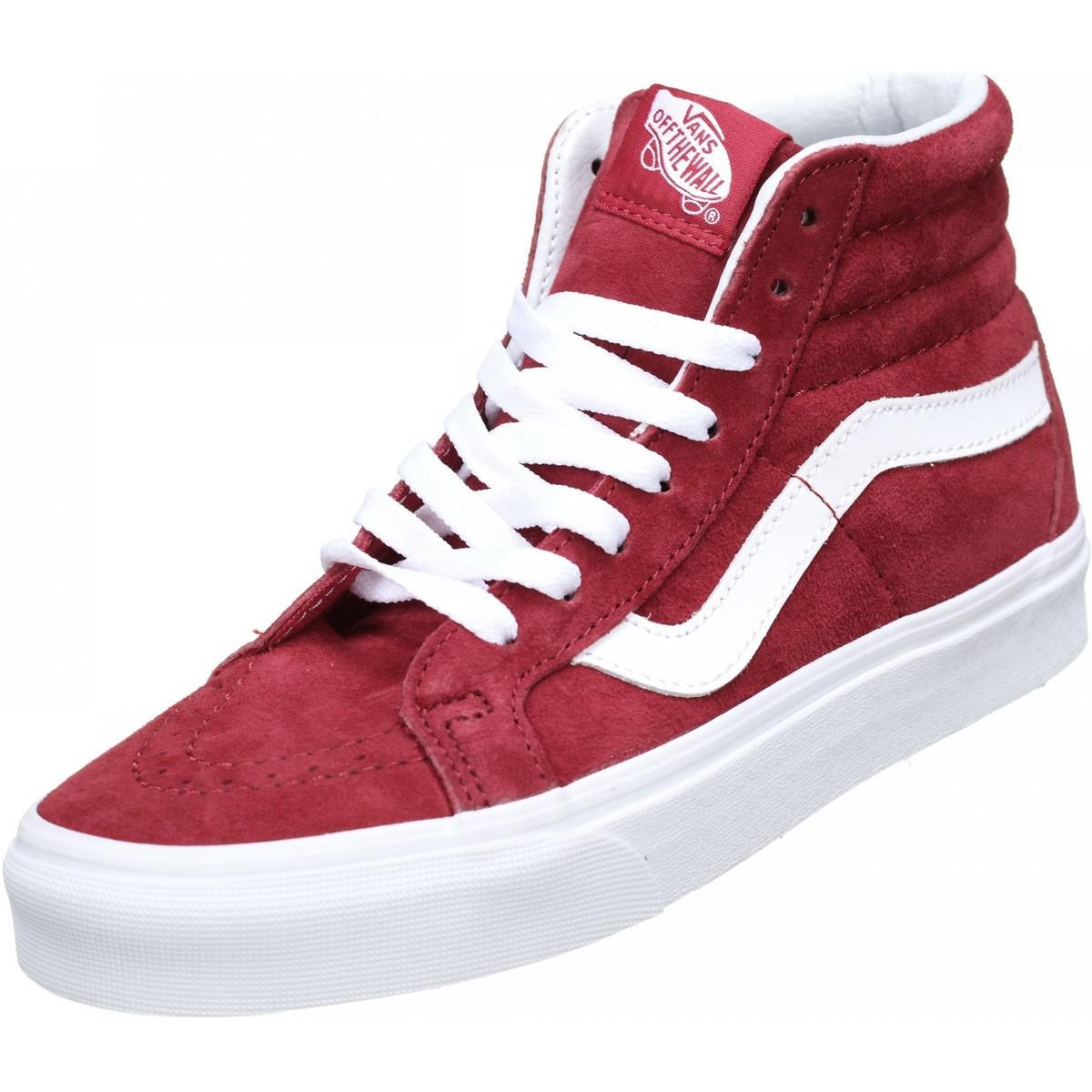 Femmes Basket Montantes Rouge Femme En Chaussures Vans Coloris 9IEH2DYW