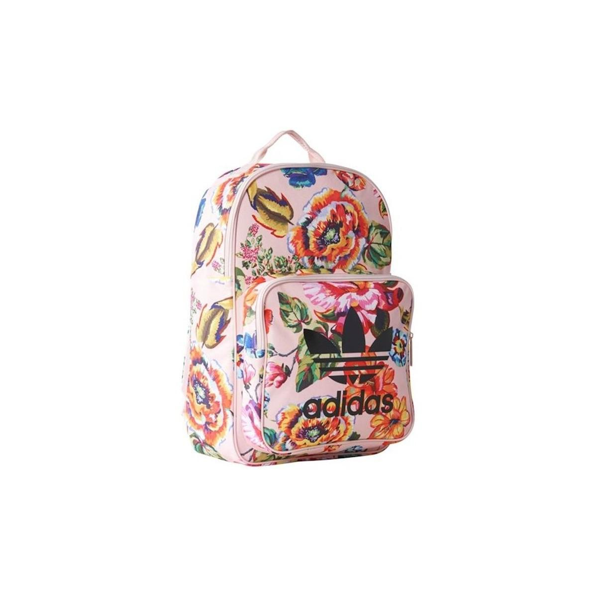 adidas Originals Floral Classic Bp Women s Backpack In Pink in Pink ... a1d4e63964