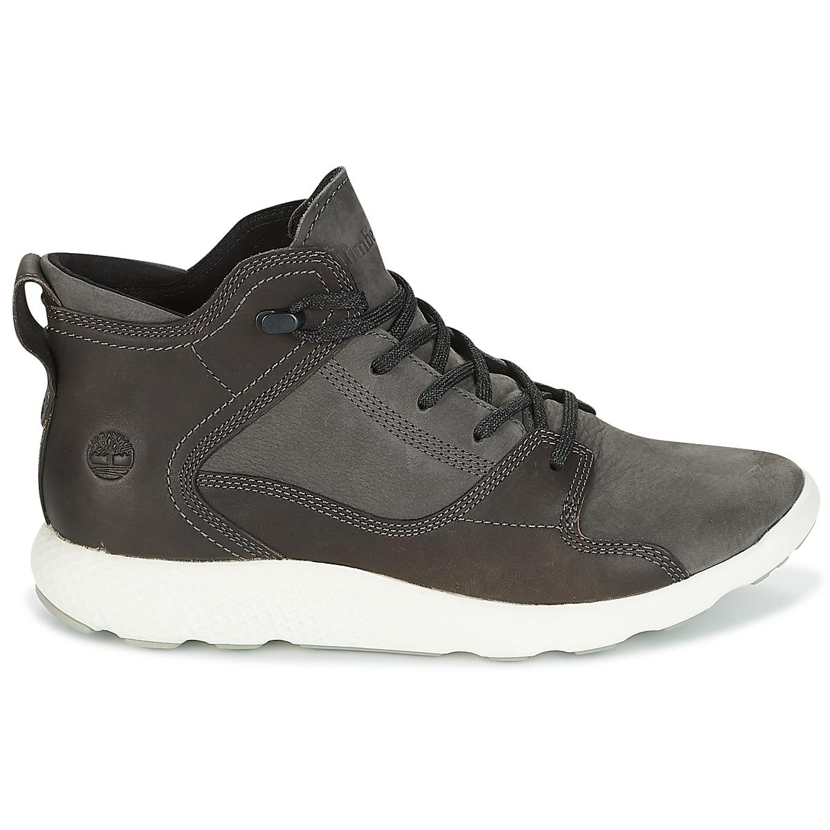 Timberland - Black Flyroam Leather Hiker Shoes (high-top Trainers) for Men  -. View fullscreen 97ab974892