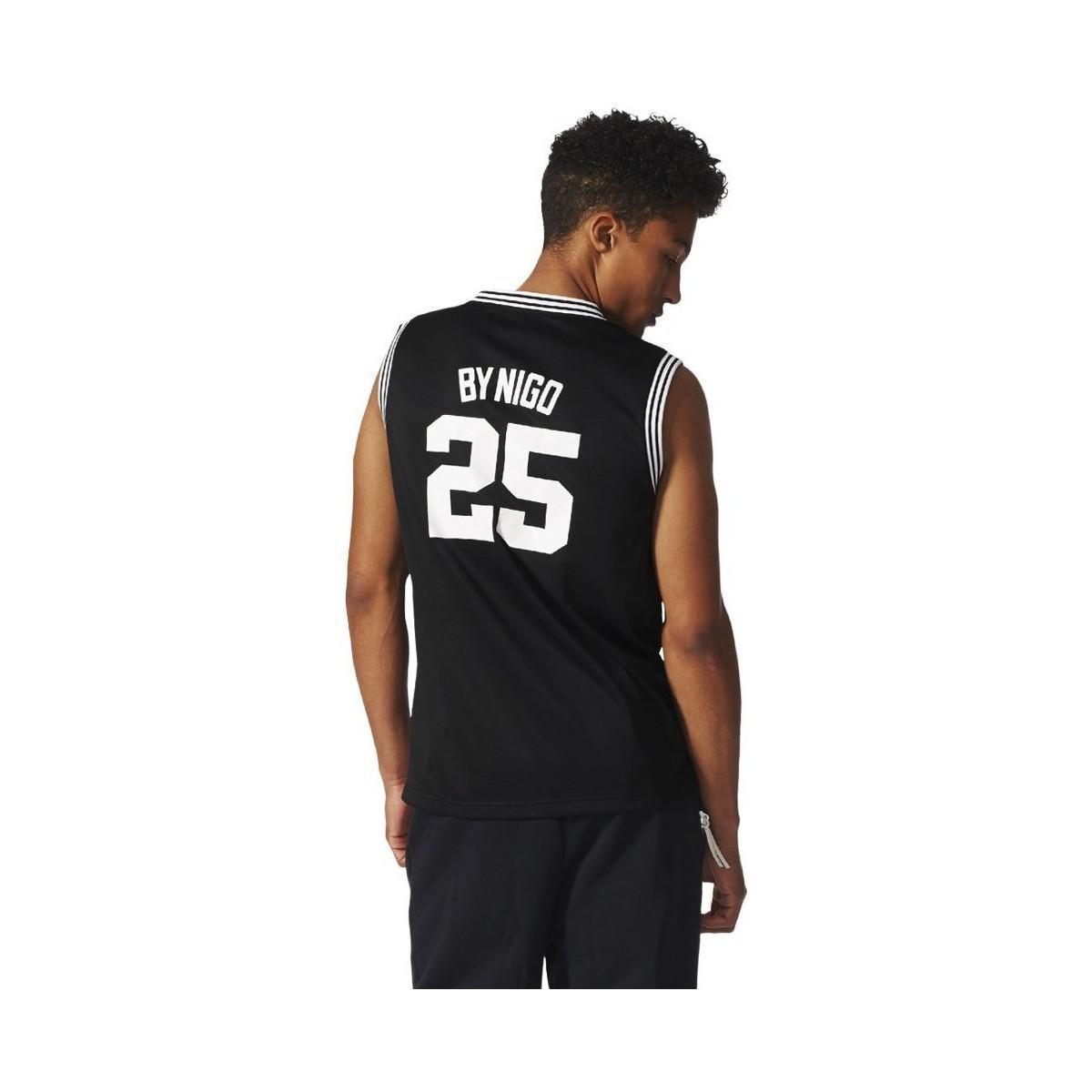 Adidas T Shirts ADIDAS TEAM BASKETBALL JERSEY BLACK VEST