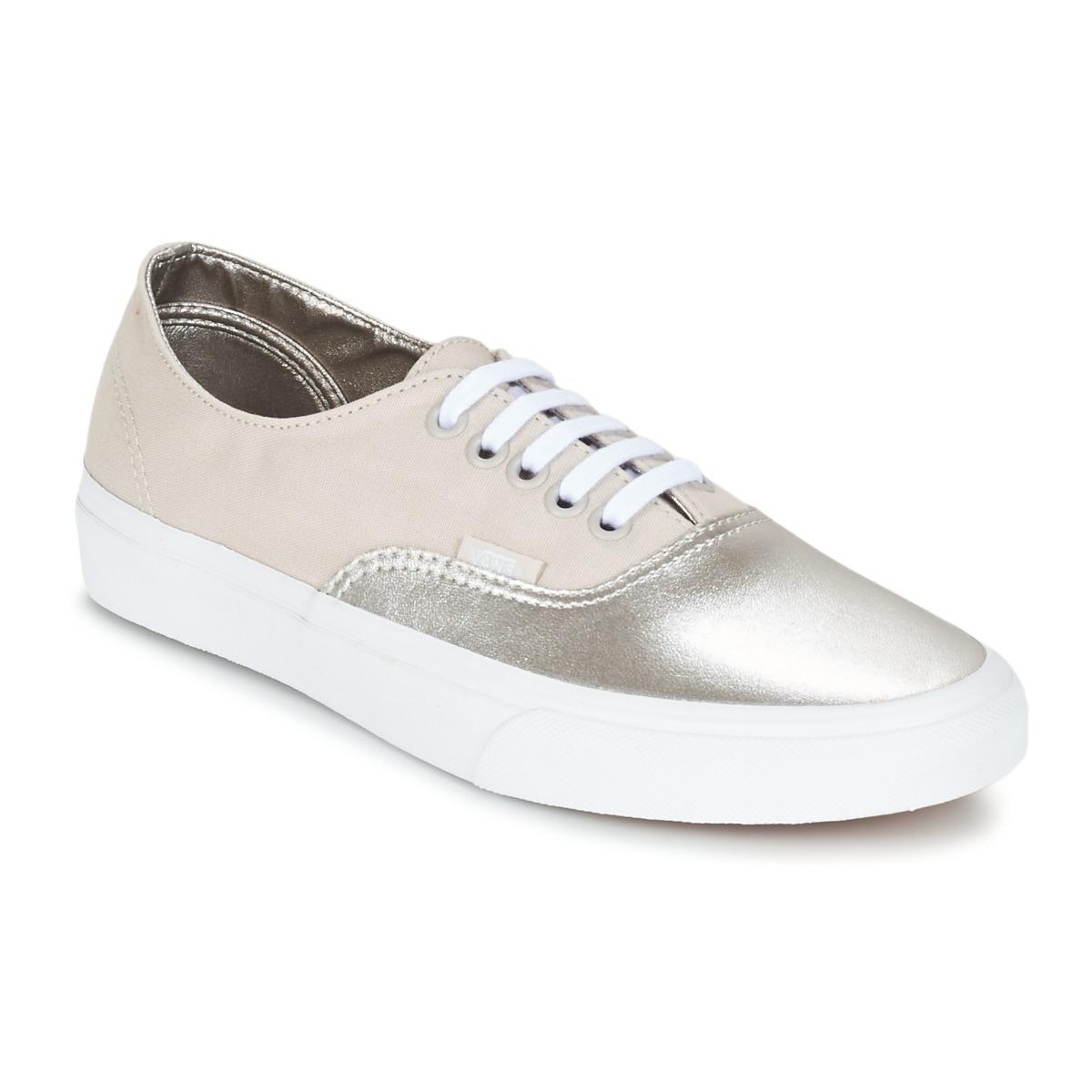 3bb19d0196 Vans Authentic Decon Women s Shoes (trainers) In Silver in Metallic ...