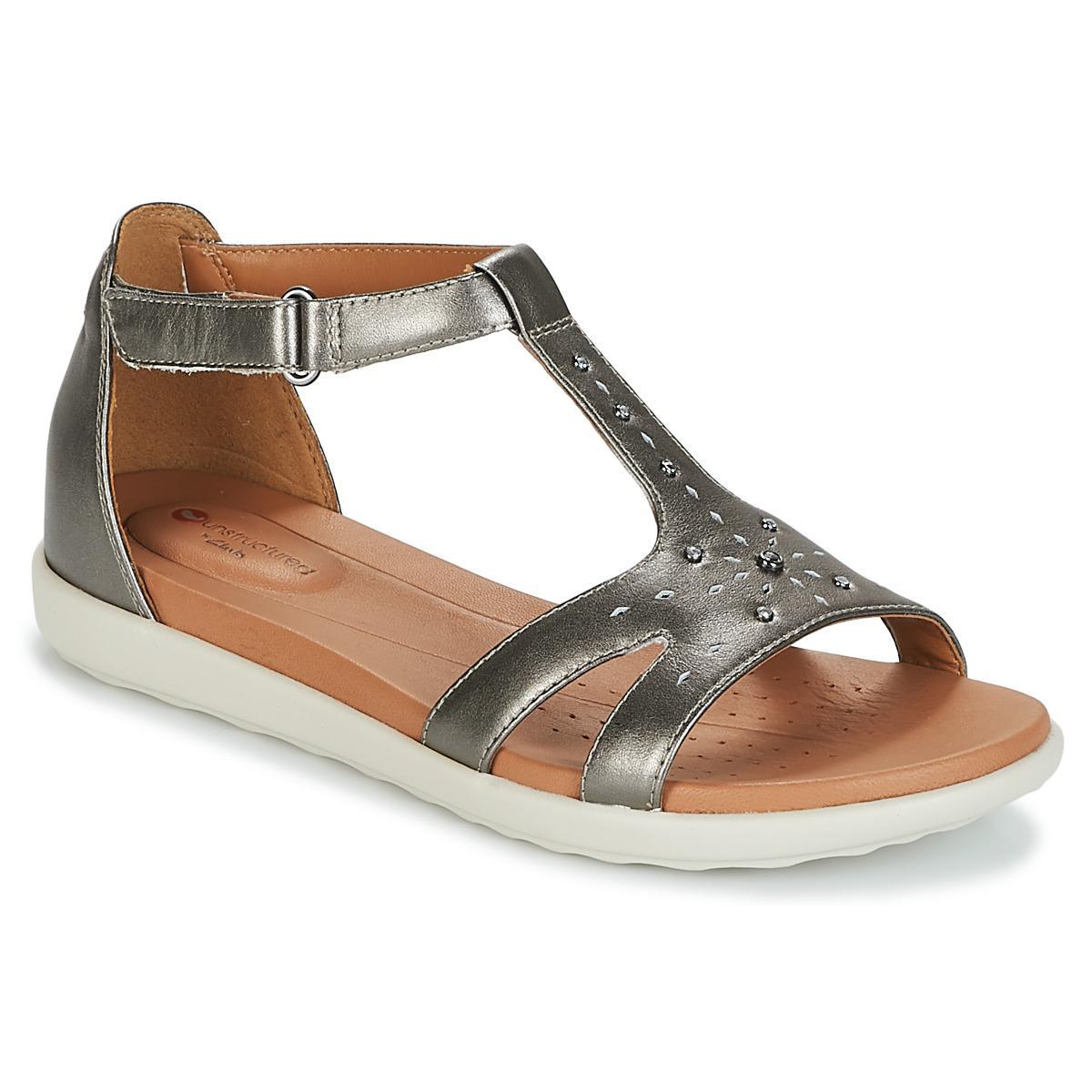134095c92b4ed7 Clarks Un Reisel Mara Sandals in Metallic - Lyst