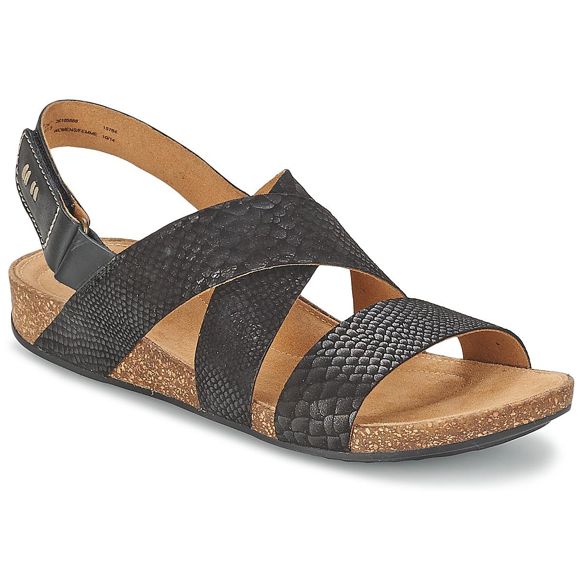 9af1d3770c0587 Clarks Perri Dunes Women s Sandals In Black in Black - Lyst