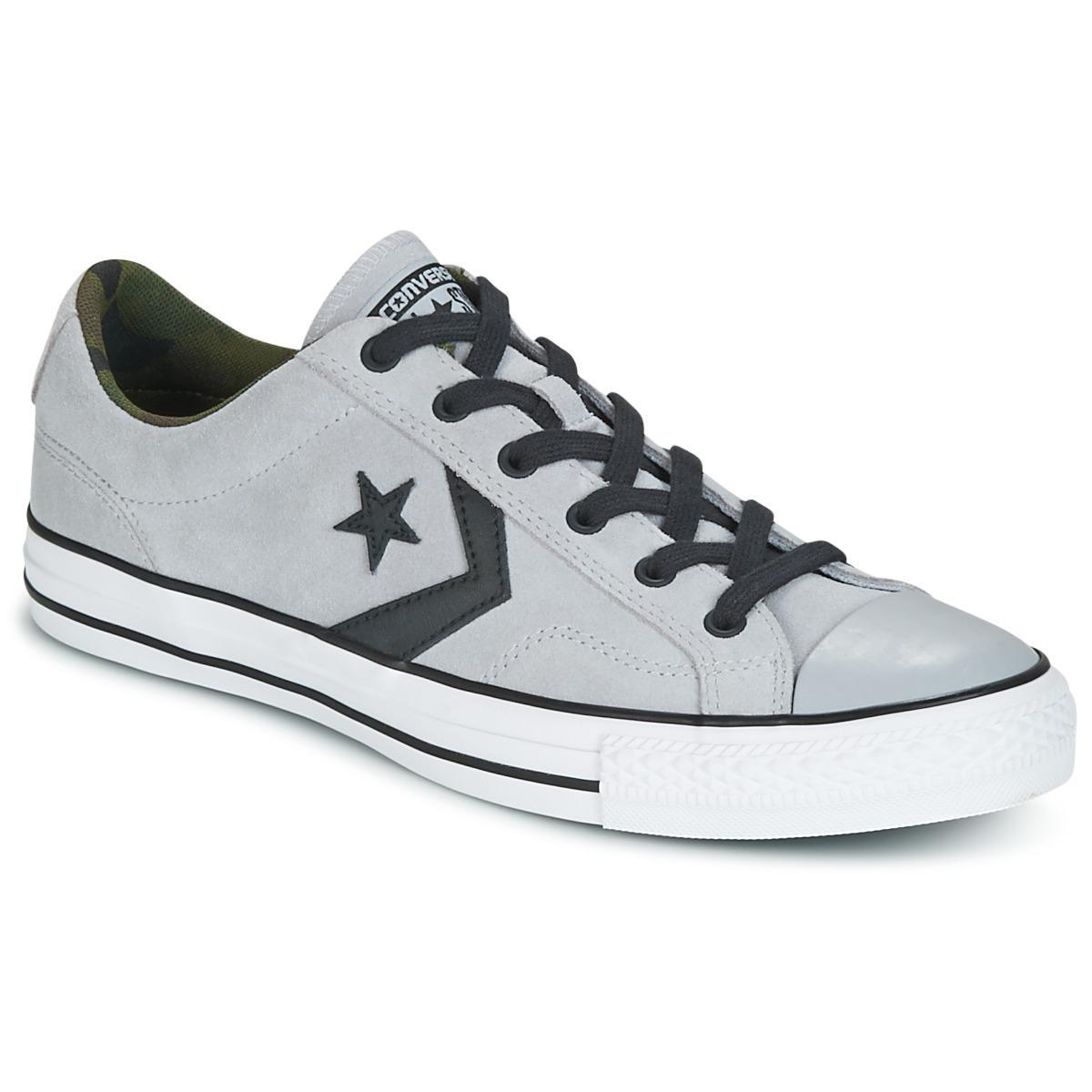 Converse  Gray Star Player Ox Camo Suede Men's Shoes