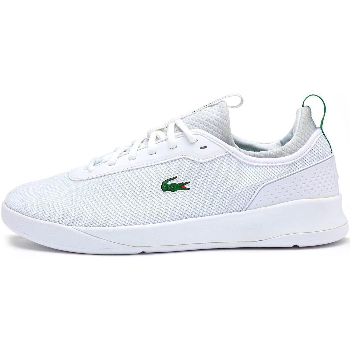 dc752735d73c2f Lacoste Lt Spirit 2.0 317 1 Spm Trainers In White Green 734spm0024 ...