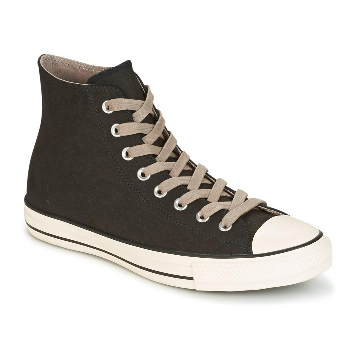 ace0708fd78 Lyst - Converse Chuck Taylor All Star Coated Leather Hi Black malted ...