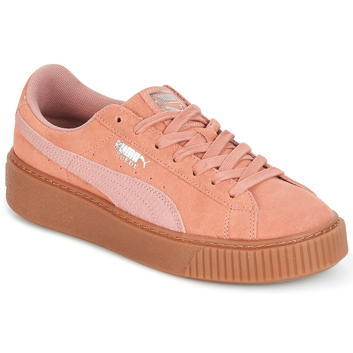 PUMA Suede Platform Core Gum Shoes (trainers) in Pink - Lyst 39cf1e464