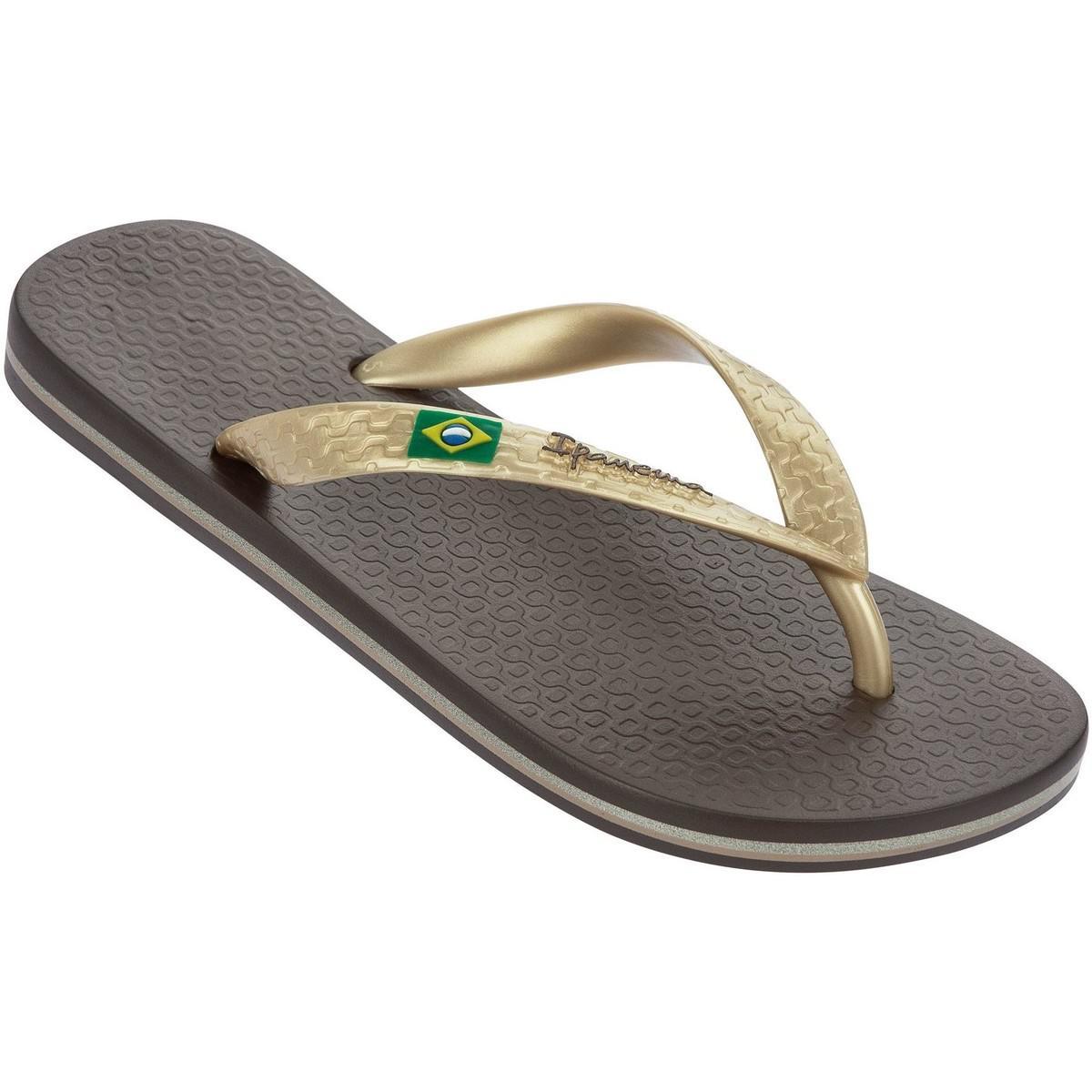 646fe391e Ipanema. Brazil Ii Flag Sandals In Brown Gold 80408a Women s Flip Flops ...