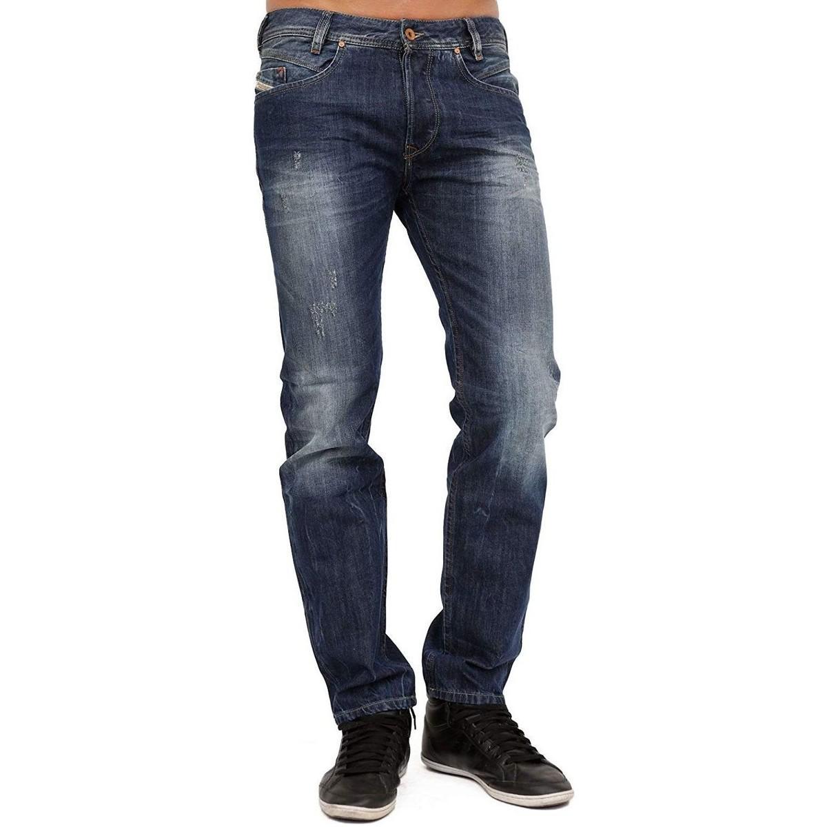 a71ccee9 DIESEL - Men's Jeans Iakop 8b9 - Regular Slim - Tapered Men's In ...