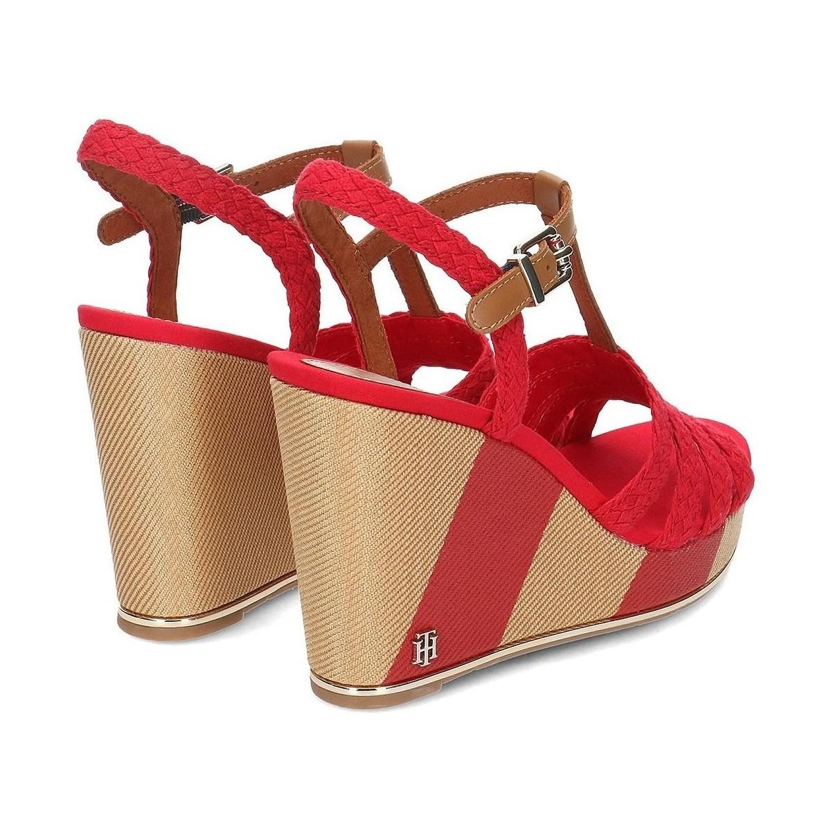 c1a356e2b Tommy Hilfiger - Printed Wedge Women's Clogs (shoes) In Red - Lyst. View  fullscreen